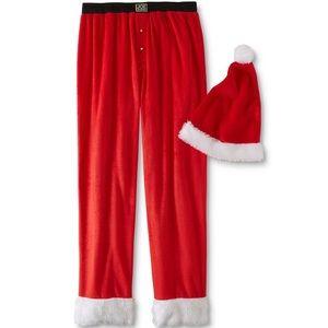 🎁Men's Santa Pajama Pants & Hat Set🎁